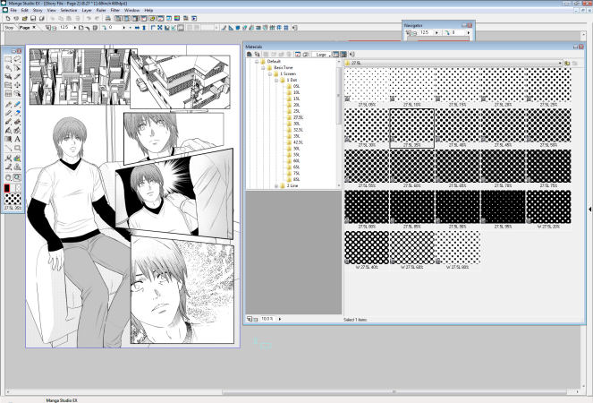 Manga Studio Interface